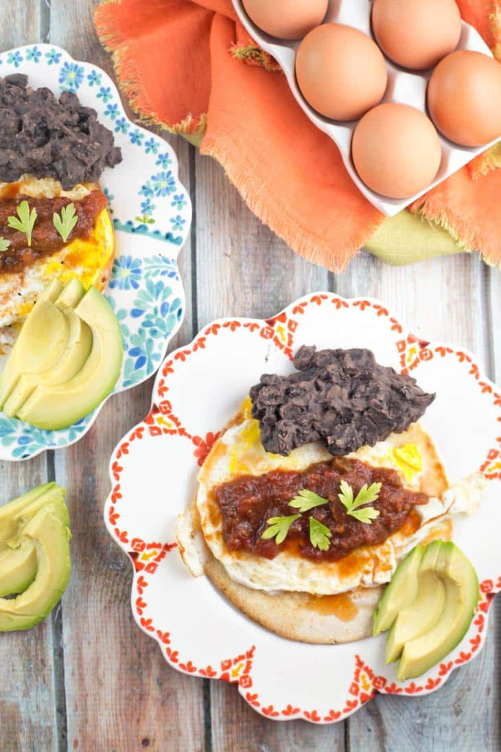 Huevos Rancheros | Breakfast | Brunch | Eggs | Corn Tortillas | Beans | Avocado | Gluten Free | Vegetarian | Bunsen Burner Bakery