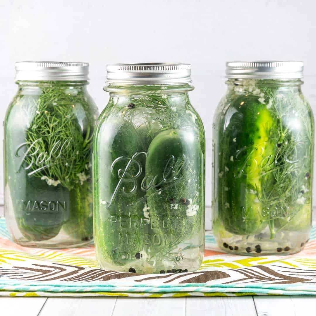 Garlicky Dill Refrigerator Pickles