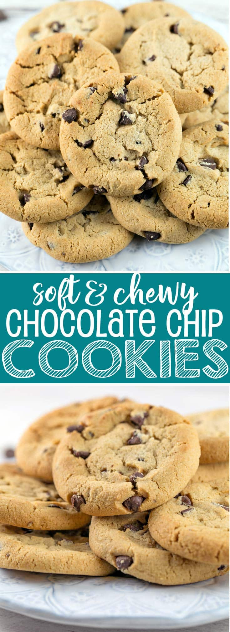 Soft and Chewy Chocolate Chip Cookies: mixed in one bowl with no refrigeration step before baking, these easy chocolate chip cookies are a crowd-pleasing favorite! {Bunsen Burner Bakery}