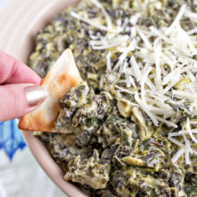 Spinach and Artichoke Dip | Party Food | Dips | Football Party | Vegetarian | Gluten Free | Slow Cooker | Crockpot | Bunsen Burner Bakery