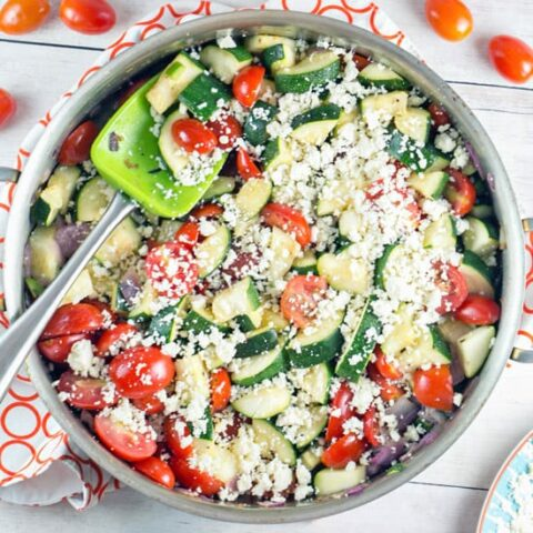 One Skillet Mexican Zucchini