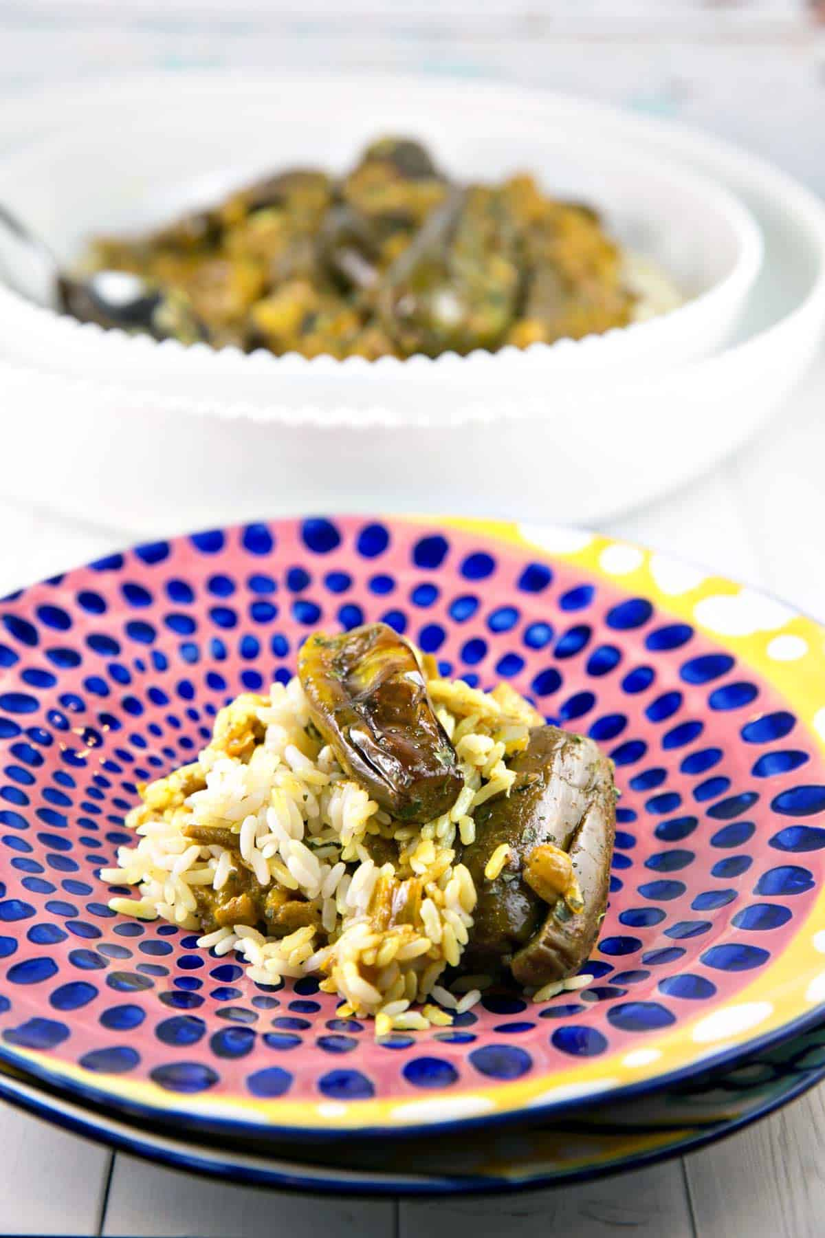 Eggplant Curry with Coconut Milk: vegan and gluten free, this 30-minute meal is the answer to getting out of your weeknight cooking rut. #bunsenburnerbakery #curry #eggplant #glutenfree #vegan