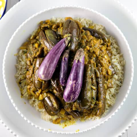 Eggplant Curry with Coconut Milk