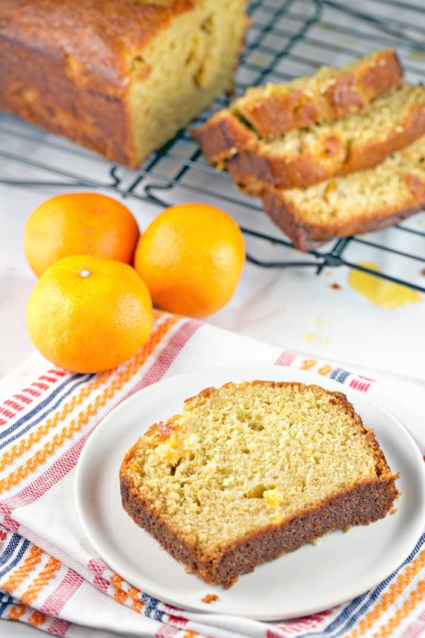 Clementine Vanilla Quick Bread: a delicious vanilla-studded quick bread, full of fresh clementines and a sweet clementine glaze. {Bunsen Burner Bakery}