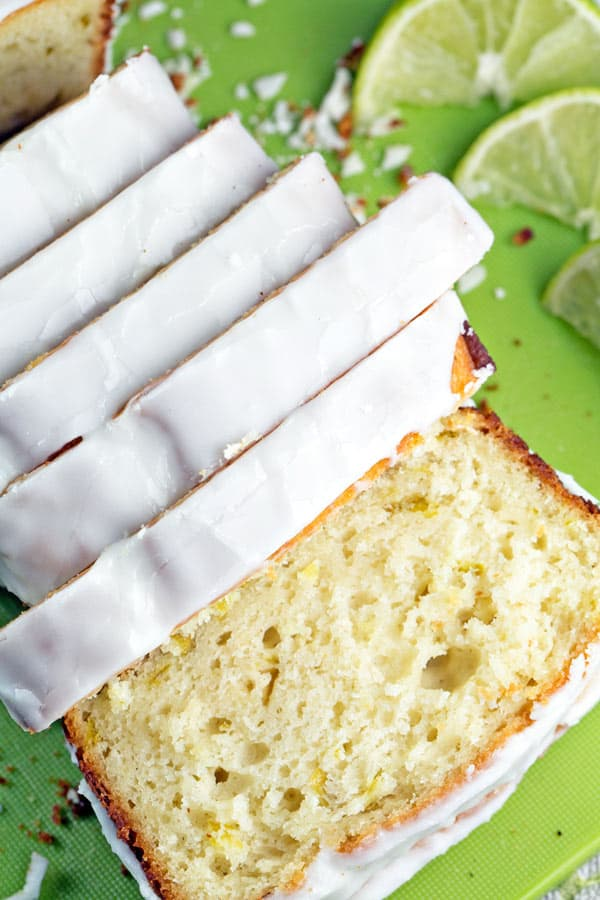 Buttermilk Lime Quick Bread: Citrusy and tangy buttermilk lime quick bread covered with a sweet-tart lime sugar glaze. Pretend it's summer year round with this simple buttermilk bread. {Bunsen Burner Bakery}