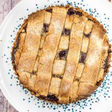Gluten Free Passover Linzer Tart: hazelnut, almond, and walnut crust with a layer of raspberry jam. {Bunsen Burner Bakery}