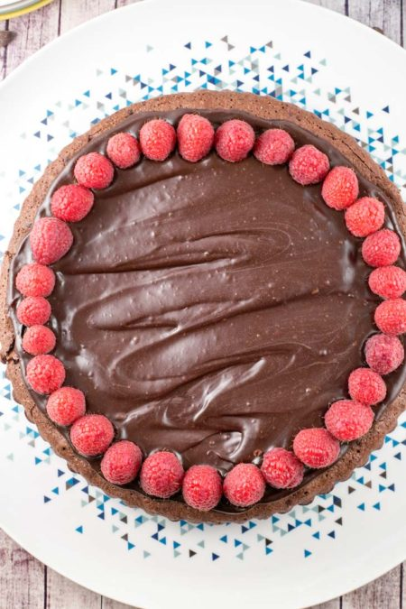 A rich, one bowl flourless chocolate cake topped with silky ganache -- perfect for Passover, a gluten-free birthday cake, or just because it's a Tuesday.