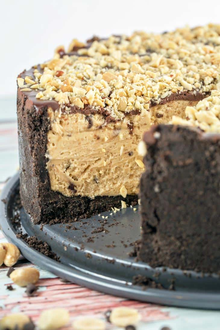 Chocolate Oreo Peanut Butter Torte: oreos! peanut butter! cream cheese! chocolate ganache! All your favorite things in one delicious (nearly) no-bake dessert. {Bunsen Burner Bakery}