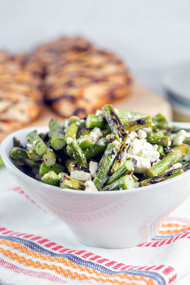 grilled asparagus feta salad