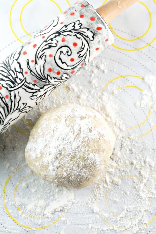 No Fail Pie Crust dough in a ball ready to roll