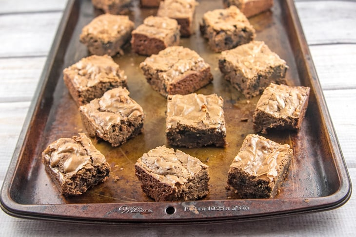 Simple and easy fudgy brownies, rich and dense yet cakey, mixed by hand with ingredients already in your kitchen. Better than boxed mix! {Bunsen Burner Bakery}