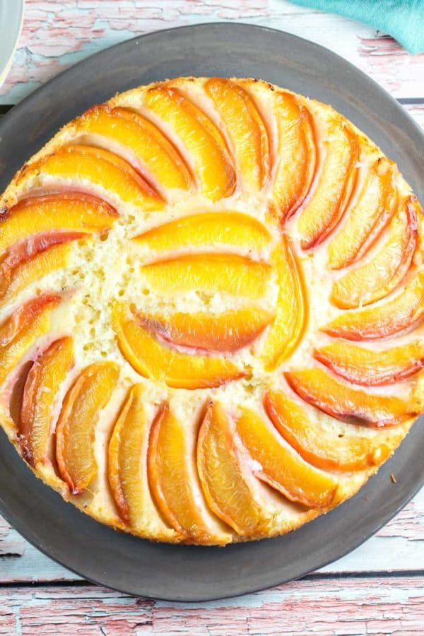Upside-Down Nectarine Cake: This isn't your grandmother's upside-down cake. Made with yogurt, it's lighter, fresher, and highlights in-season fruit. {Bunsen Burner Bakery}
