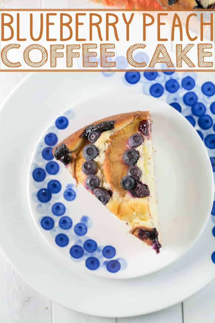 Blueberry Peach Coffee Cake: the perfect breakfast, dessert, or mid-afternoon snack. {Bunsen Burner Bakery} #cake #coffeecake #peach #blueberry