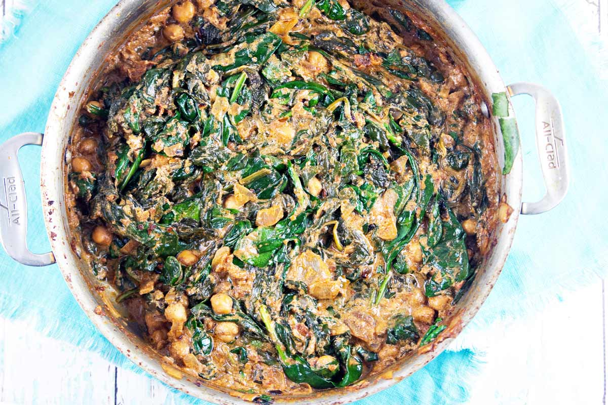 Coconut Braised Chickpeas and Spinach: the perfect warm, filling winter dinner (vegan and gluten free!) {Bunsen Burner Bakery}