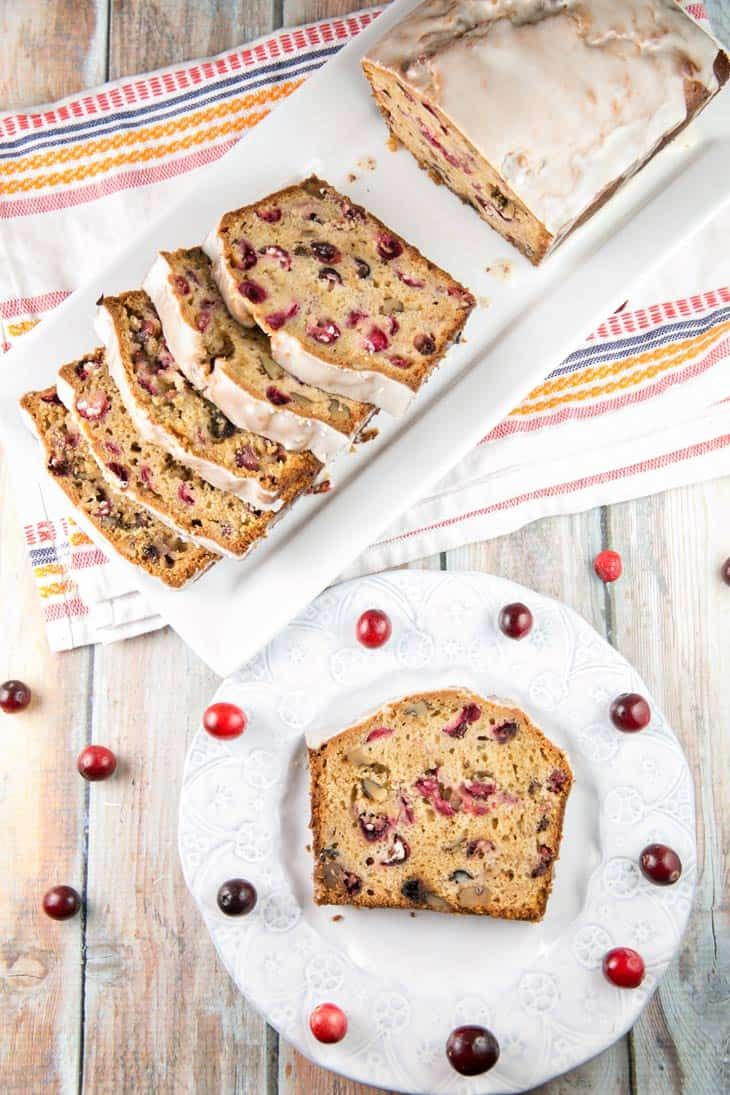 Cranberry Cider Quick Bread: not your typical dry and bland cranberry bread with a sweet apple cider glaze. {Bunsen Burner Bakery} #quickbread #cranberry #applecider #cranberrybread