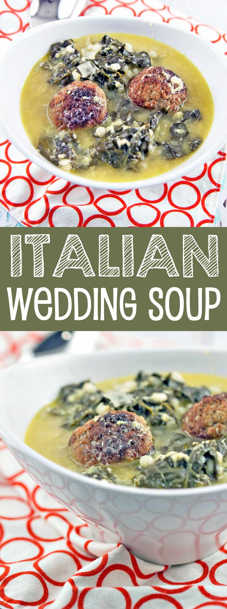 Italian Wedding Soup: a delicious, comforting favorite, made with things already found in your freezer and pantry. {Bunsen Burner Bakery}