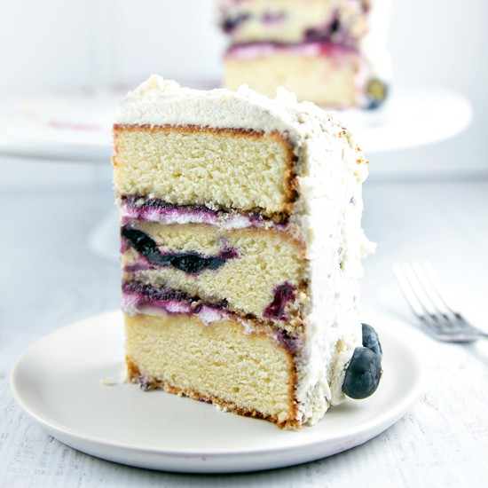 Vanilla Layer Cake with Blueberry Cardamom Curd | Bunsen Burner Bakery