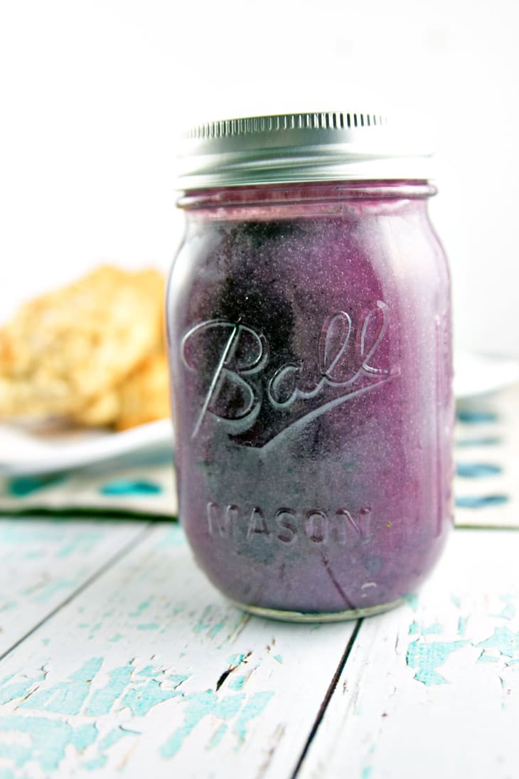 Blueberry Cardamom Curd: Smooth, rich curd, bursting with blueberry and cardamom flavor. Perfect for scones, muffins, cakes, tarts, or just eating right off a spoon. {Bunsen Burner Bakery}