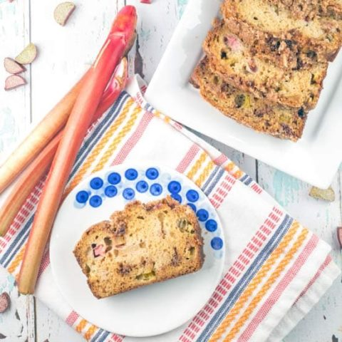 Cinnamon Streusel Rhubarb Bread