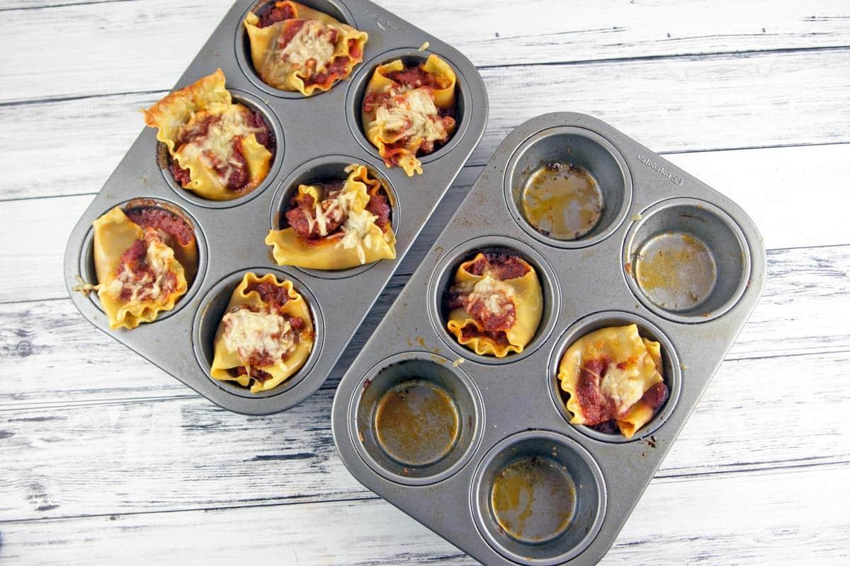 Sausage Lasagna Cups | Bunsen Burner Bakery