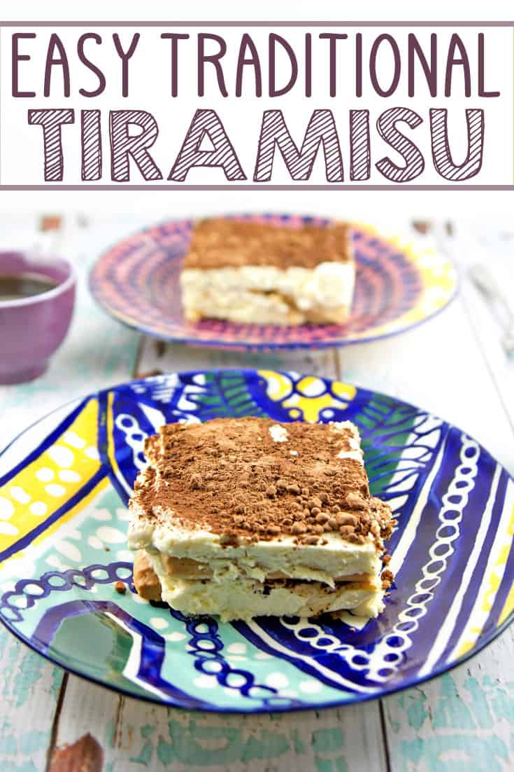 Easy Traditional Tiramisu: Whip up a delicious batch of easy traditional tiramisu in mere minutes - no baking necessary. Create your own Italian delicacy at home! {Bunsen Burner Bakery} #tiramisu #italian #nobakedessert