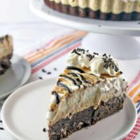 Brownie Bottom Peanut Butter Ice Cream Pie