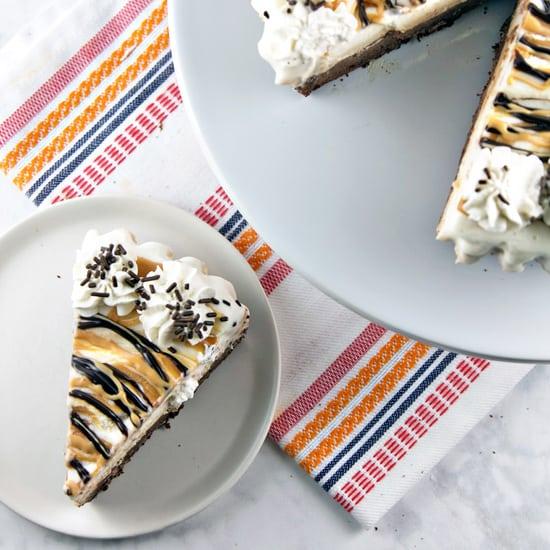 Brownie Bottom Peanut Butter Ice Cream Pie
