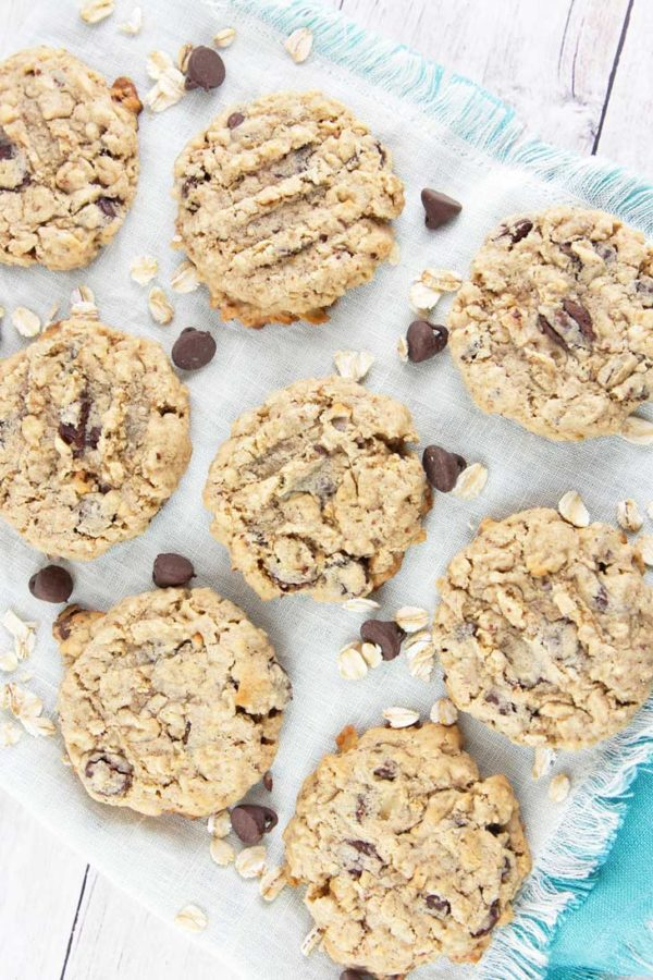 Oatmeal Chocolate Chip Lactation Cookies: bake up a batch of these delicious galactagogue-filled treats to boost milk supply for the breastfeeding moms in your life.  {Bunsen Burner Bakery}