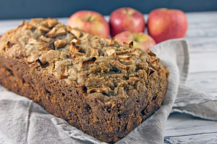 Cinnamon Apple Crumble Bread: whisk-by-hand fall baking at its finest. All the delicious flavors of fall, but so much easier than a pie. Perfect to share! {Bunsen Burner Bakery}