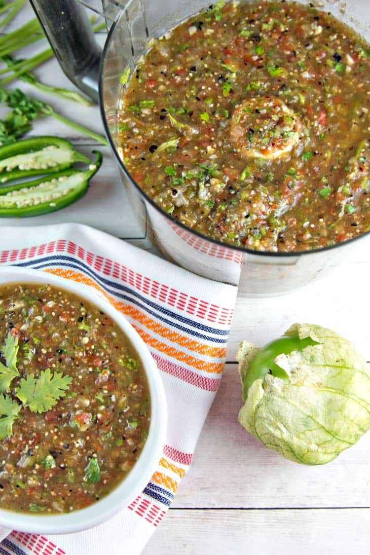 Roasted Tomatillo Salsa Verde | Bunsen Burner Bakery