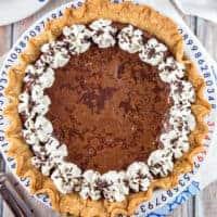 Flourless Chocolate Brownie Pie
