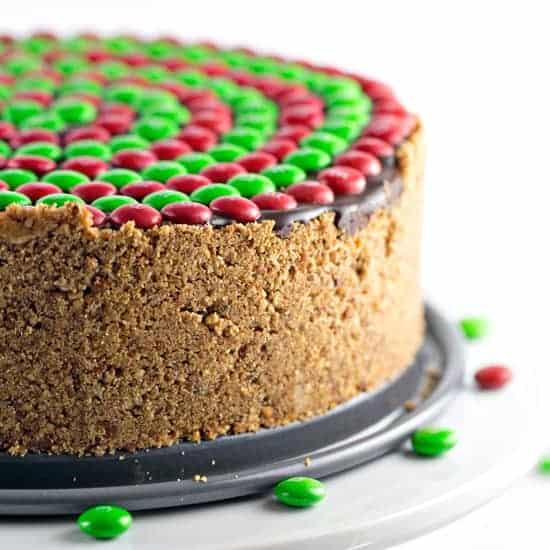 No Bake M&M'S® Pretzel Peanut Butter Pie