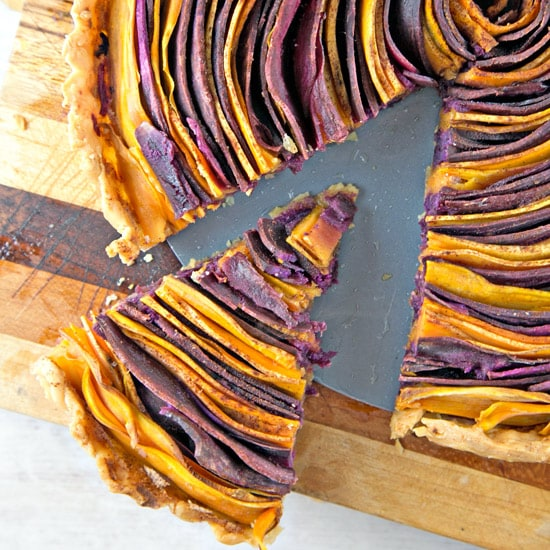 Spiral Sweet Potato Tart with Whipped Maple Ricotta