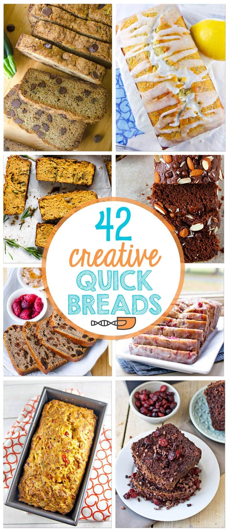 If you think quick bread and automatically assume banana bread - no way.  Expand your baking horizons with these 42 creative quick breads!