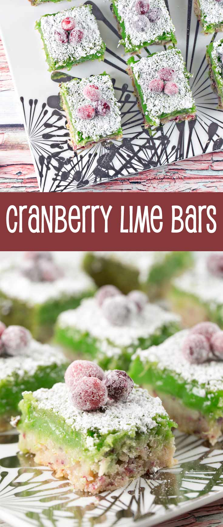 Cranberry Lime Bars: adios, bland lime bars - these cranberry lime bars pack a serious sweet-tart citrusy punch! {Bunsen Burner Bakery}