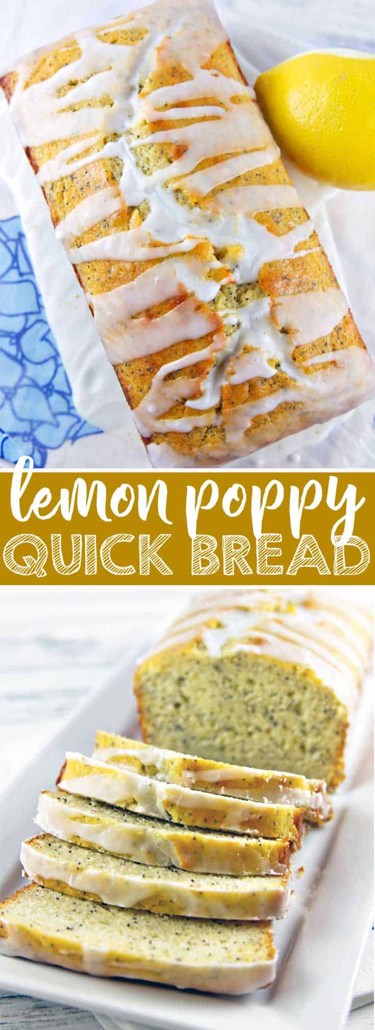 Lemon Poppy Quick Bread: a fresh take on a classic, this is more moist and lemony than your grandmother's lemon loaf. {Bunsen Burner Bakery} #quickbread #lemonpoppy #lemonloaf