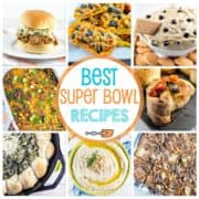 Dips, hot finger food appetizers, and desserts - here are the best Super Bowl recipes for a perfect party!