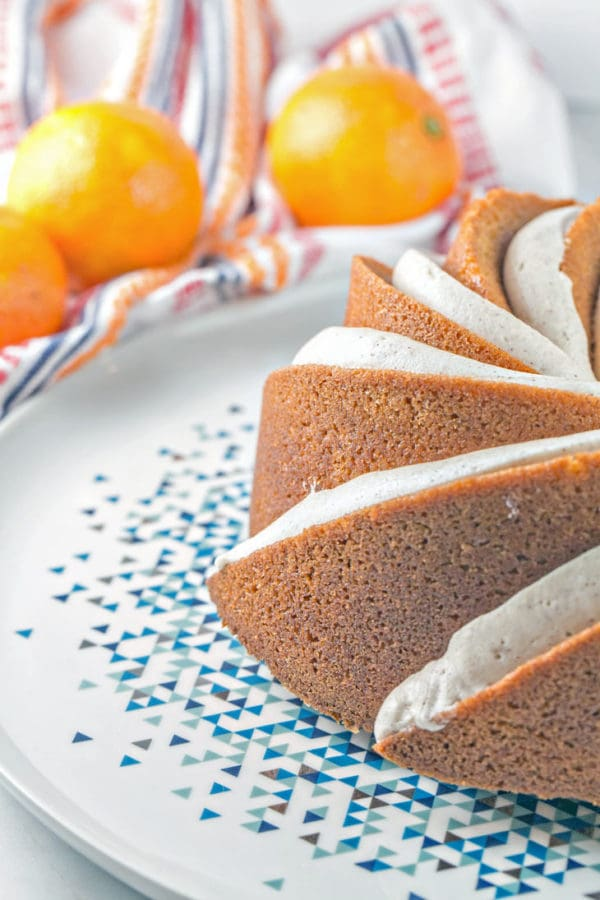 Cinnamon Clementine Bundt Cake: An easy one-bowl bundt cake, packed full of cinnamon and clementine zest, covered with cinnamon cream cheese frosting. {Bunsen Burner Bakery}