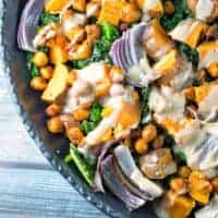 Sweet Potato Kale Chickpea Bowl (GF + Vegan)