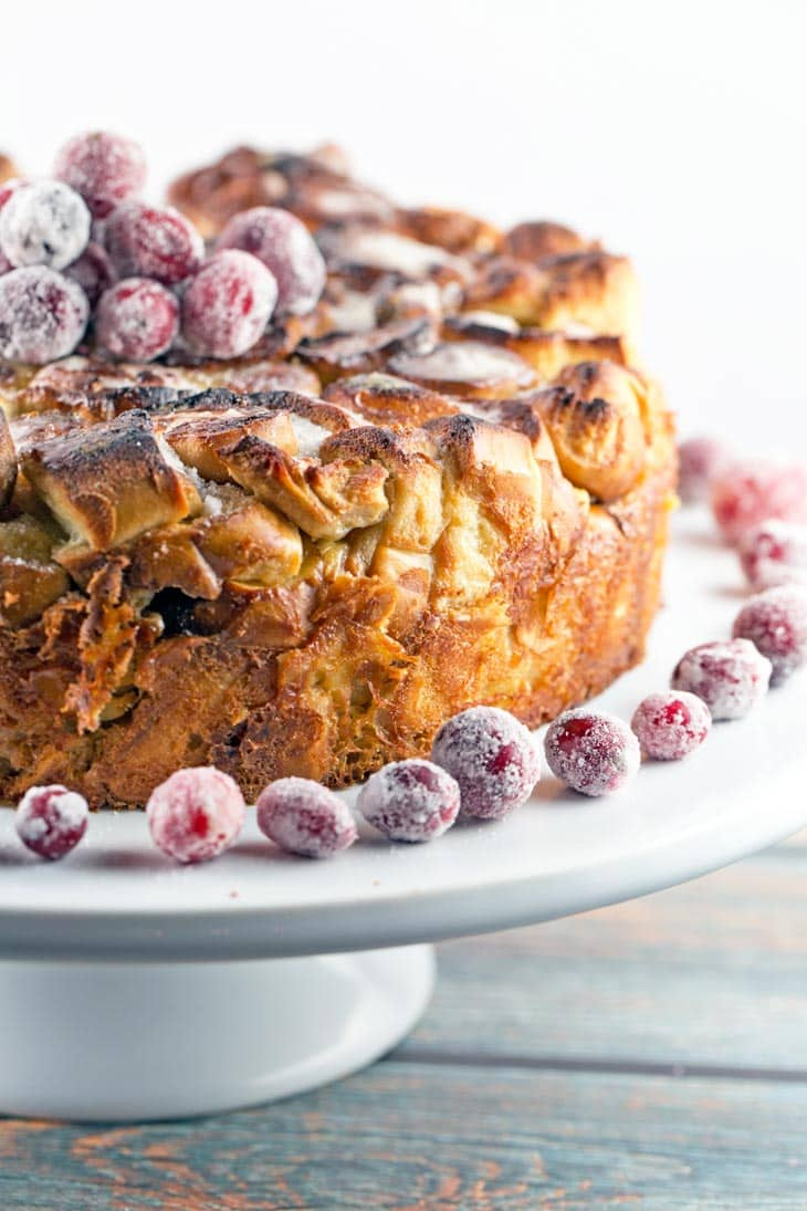 Soft Pretzel French Toast Casserole: sweet and salty, crunchy and soft, with a melted sugar crust. Perfect make-ahead breakfast for company! {Bunsen Burner Bakery}