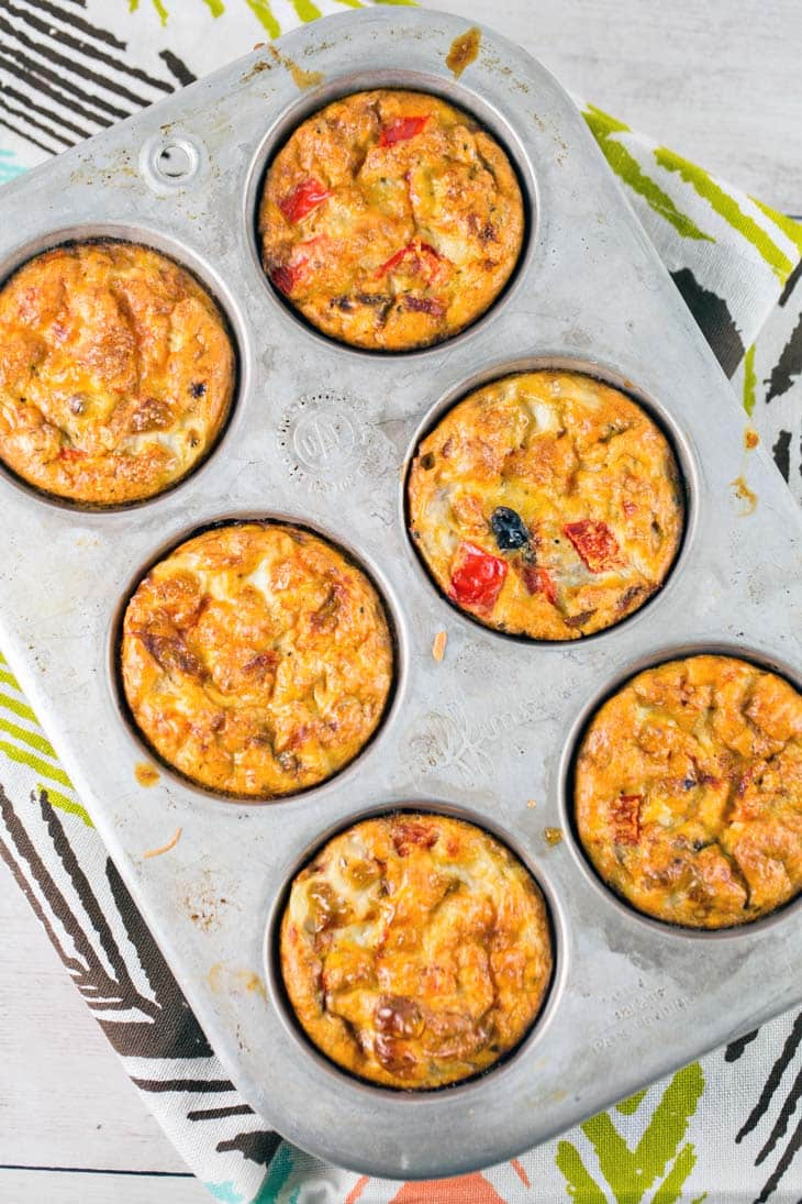 Southwestern Egg Muffins: full of black beans and peppers, these make-ahead muffins are the perfect low carb, high protein breakfast!