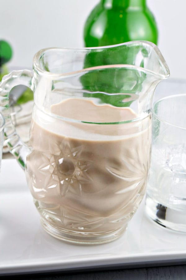 Homemade Irish Cream: quick to make and tastes like the real thing! Customize flavors for sipping, adding to drinks, or boozy desserts. {Bunsen Burner Bakery}