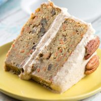 Carrot Cake with Lemon Cinnamon Cream Cheese Frosting