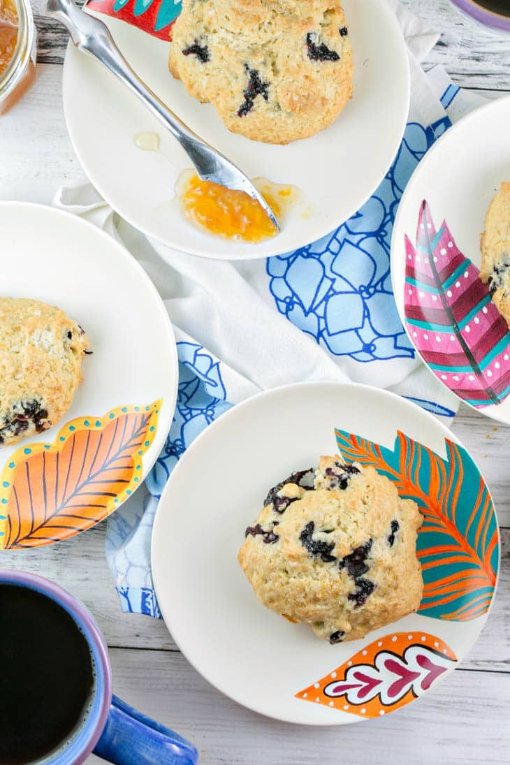 French vanilla lemon blueberry scones are perfect for a spring brunch!