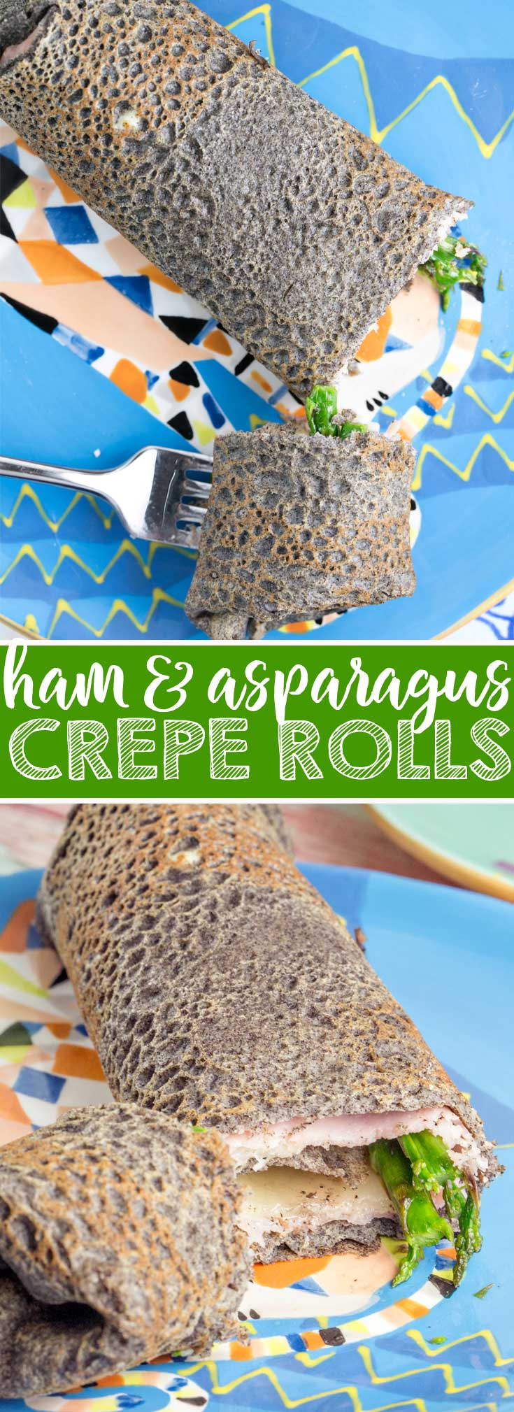 Ham and Asparagus Crepe Rolls: the perfect gluten-free spring brunch dish! {Bunsen Burner Bakery}