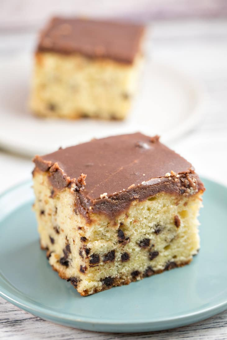 Chocolate Chip Pound Cake With Chocolate Coffee Liqueur Sauce
