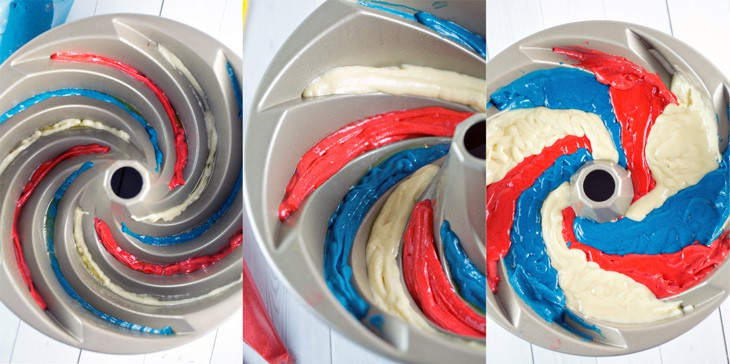 How to make a three color spiral bundt cake
