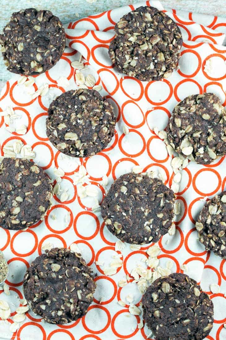 Allergy Friendly Lactation Cookies: These galactagogue-packed chocolate oatmeal lactation cookies for breastfeeding mamas are vegan and gluten free, made without dairy, soy, nuts, or eggs. {Bunsen Burner Bakery}