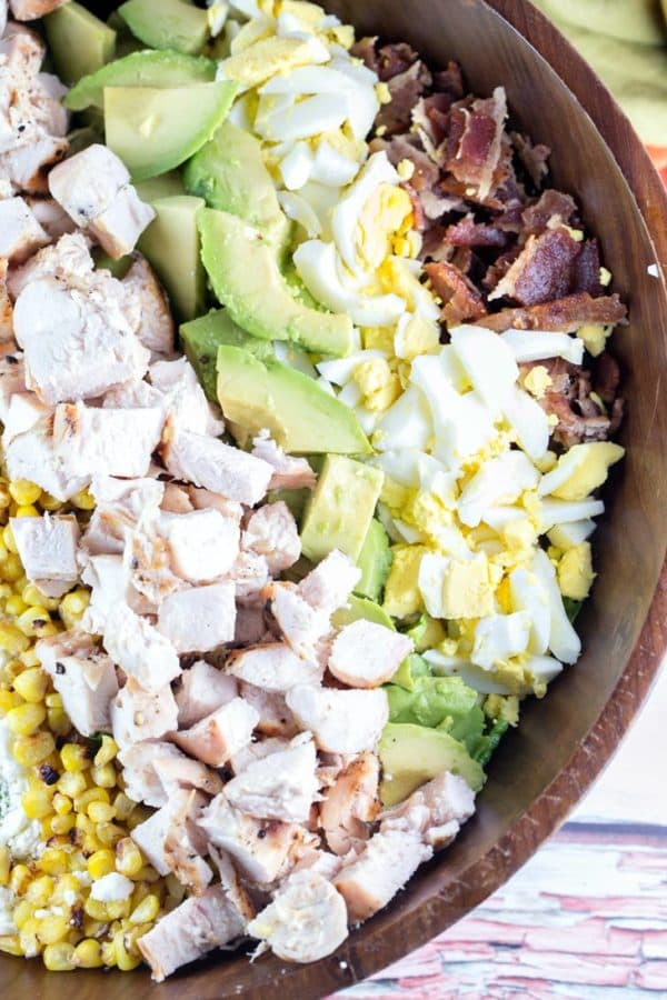 Grilled Chicken Cobb Salad: the perfect 20 minute meal to please the whole family! Easy, quick, and fully customizable, it should be a regular staple in your summer dinner rotation. {Bunsen Burner Bakery}