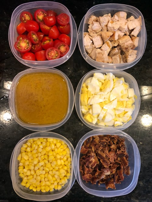 grilled chicken cobb salad meal prep